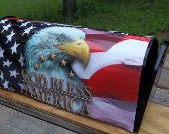 Eagle-Flag-God Bless America Mailbox