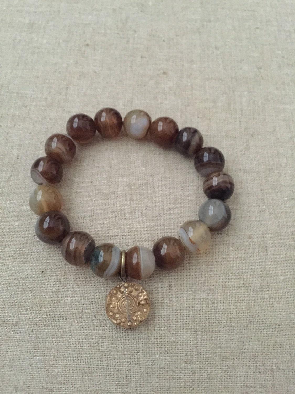 beaded bracelets stacking bracelets stretch bracelets brown