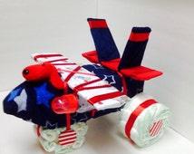 Airplane diaper cake /F18 figher jet diaper cake