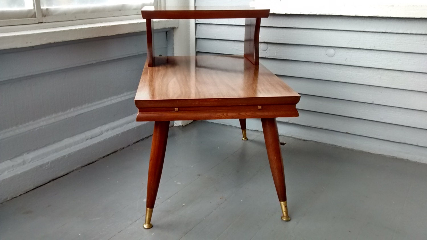 End Table Step Up Mid Century Danish Modern