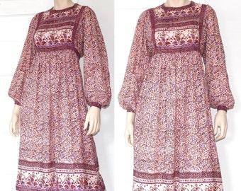 70s cotton gauze ADINI india dress - xs or small