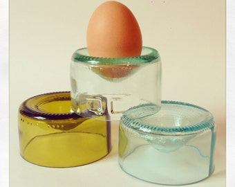 Wine Bottle Egg Cups (Pair - Mixed Colours)