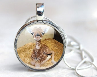 Giraffe Necklace - Giraffe Gifts - Baby Giraffe Necklace