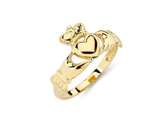 14K Gold Claddagh Ring, Claddagh Ring, Claddagh Jewelry, Irish Jewelry, Friendship Jewelry, Loyalty Jewelry, Love Jewelry