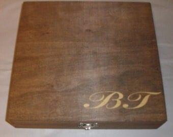 Laser Engraved Cigar Box -Groomsman Gift - Personalized Gifts - Laser Engraved Cigar Box - Best Man Gift - Rustic Wedding Gifts