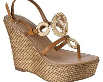 Seahorse Wedge Sandals Espradilles Sz 8 NWOT