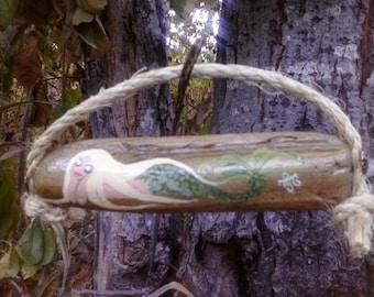 Small blonde mermaid driftwood art