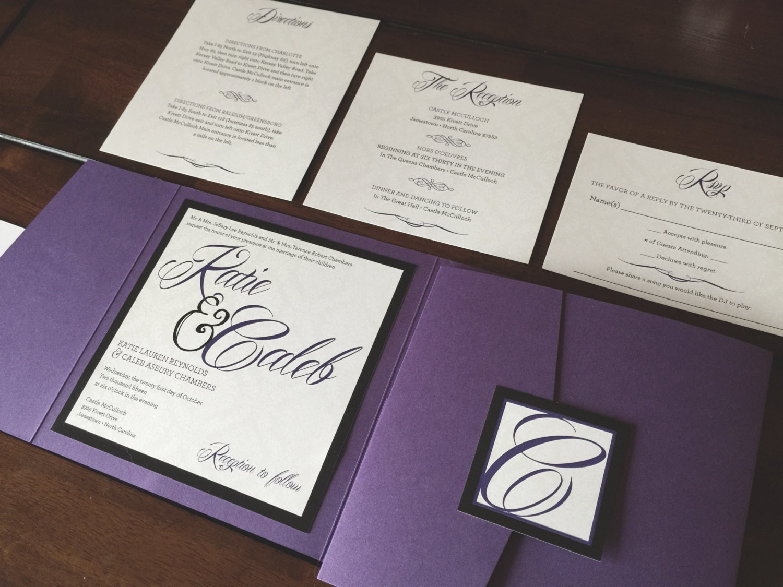custom pocket wedding invitations - 28 images - custom pocket fold ...