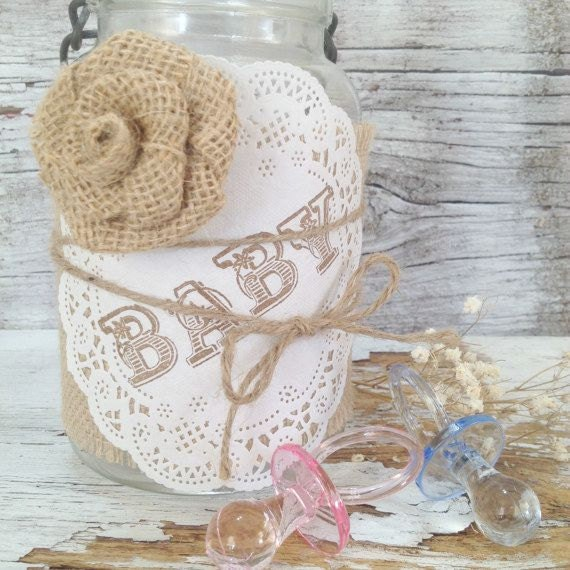 Vintage baby shower decor for jars by denadanielledesigns
