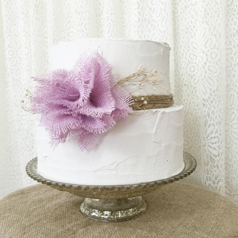 Burlap Cake Topper Idea Lavender Burlap by DenaDanielleDesigns