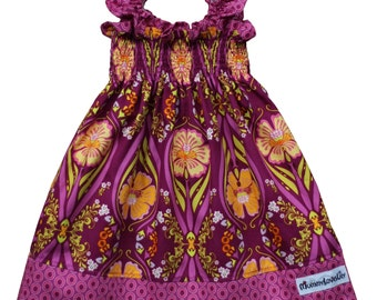 Shirred Dress, Shirred Summer Dress, Smocked Dress, Sundress, Girls Dress (Choice of Fabric) Sizes 0-3 months to 7-8 years MADE TO ORDER