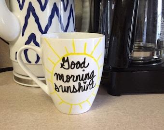 Good Morning Sunshine // Single Mug // Ready to Ship
