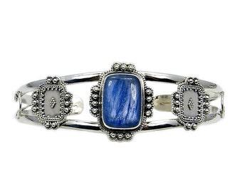 Kyanite & .925 Sterling Silver Cuff Bracelet , AD381
