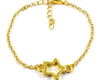 Gold plated star bracelet - mix and match armcandy