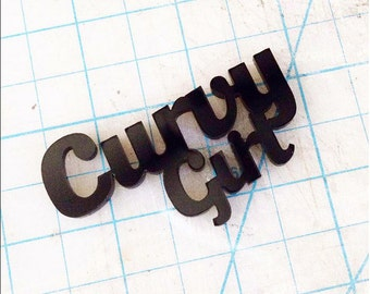 Curvy Girl Plate Black
