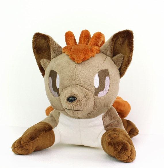 Embroidery machine vulpix pokemon design plush eyes for