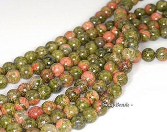 6mm Lotus Pond Unakite Gemstone Grade A Round 6mm Loose Beads 15.5 inch Full Strand (90114595-246)