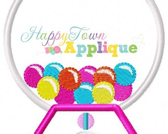 Gumball Machine Applique Design