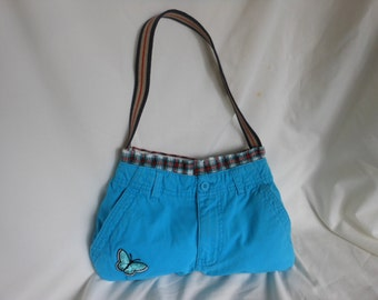 Upcycled/Recycled Cotton Pant Purse with Boxer Liner