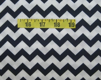 Navy Chevron Fabric by the yard