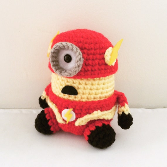 The Flash Minion PDF Pattern Crochet for Amigurumi Doll Plush