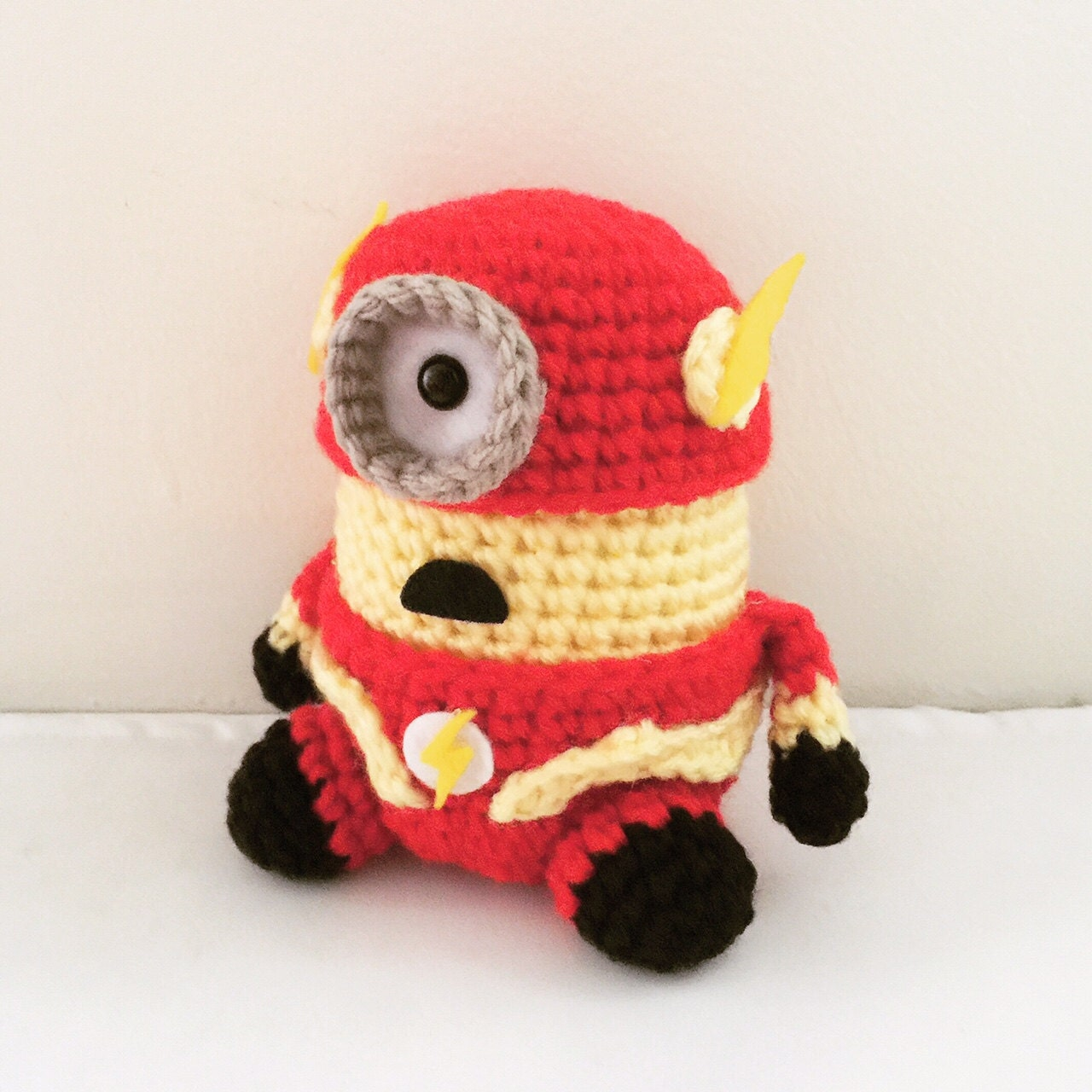 Free Crochet Pattern For Minion Toy : The Flash Minion PDF Pattern Crochet for Amigurumi Doll Plush