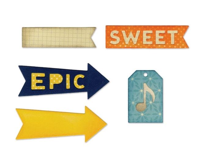 New! Sizzix Thinlits Die Set 6PK - Epic & Sweet by Jillibean Soup 660414