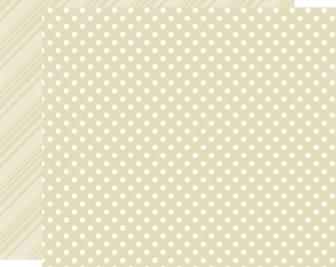 2 Sheets of Echo Park Paper DOTS & STRIPES Neutrals 12x12 Scrapbook Paper - Caramel (DS15017)
