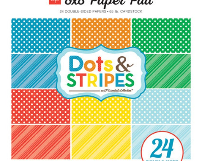Echo Park Paper DOTS & STRIPES Summer 8x8 Scrapbook Paper Pad (DS15016)