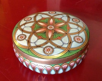 Vintage Meister Art Deco Floral Motif Candy Tin
