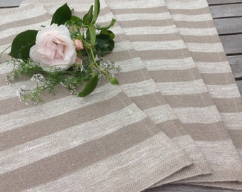 linen placemats / natural linen placemsts / rustic linen placemats / personalised