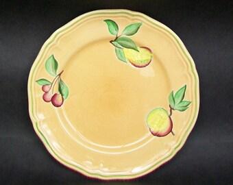 """LONGCHAMP Fruits de France 7.5"""" Hand Painted Salad Plate Apricot"""