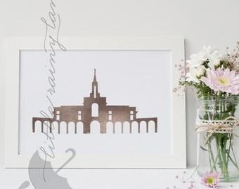 LDS Temple art - Bountiful Temple- Printable - Customizable