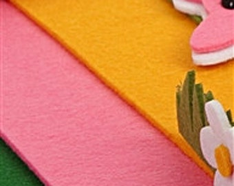 "Felt 1 sheets 9,8"" x 9,8""  , Width (Diameter) : 3mm ,choose color , Ornament Supplies , Craft Supplies"