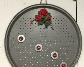 Vintage tin magnet board