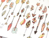 35+ Decorate Tribal Arrows and Feather Stickers for your Erin Condren Life Planner