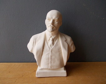 LENIN Bust / Soviet Revoluton Leader / Soviet memorabilia / Russian History / Shelf decor / Collectible