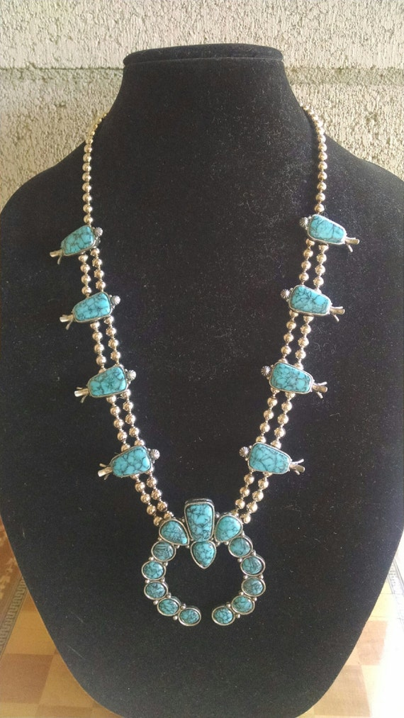 Vintage Florenta of California Faux Silver and Faux Turquoise