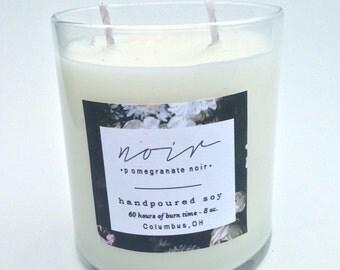 NOIR // Pomegranate Noir Soy Candle // 8oz.