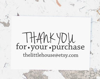 Business Card Stamp, Thank You Business Stamp, Business stamp, Etsy Business Stamp, Custom Business Stamp, Custom Thank You Stamp, 10113