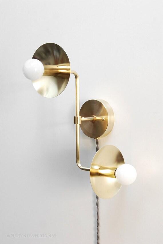 modern sconce lighting. Modern Wall Lamp Sconce Light Up Down Double Bulb Brass Lighting O