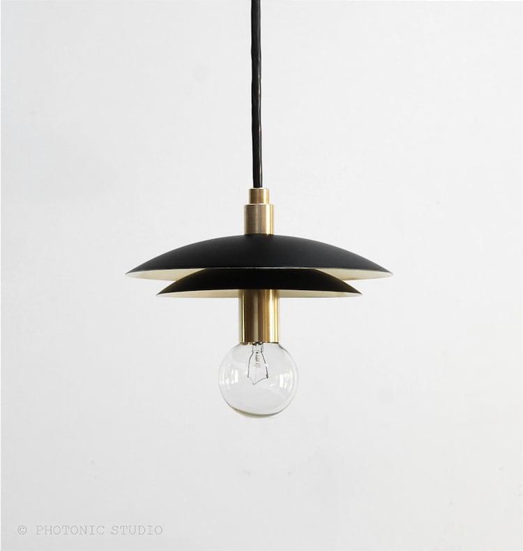 Modern pendant light mid century pendant light by for Mid century modern hanging lamp