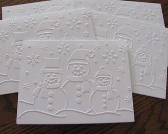 Snowmen Christmas Cards, Christmas Card Set, Holiday Cards, Boxed Christmas Card Sets, Holiday Card Set, Merry Christmas Card Sets
