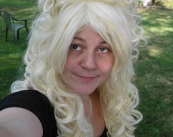 Marie Antoinette Wig, Blonde Wig, Platinum, Victorian, Renaissance, Big Curly, Beehive, Drag Queen Long blond, large wig, vintage, romantic