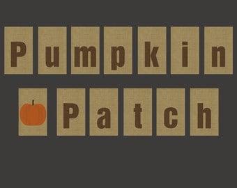 Pumpkin Patch Banner Printable