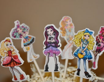 Ever After High Cupcake Toppers Set of 12