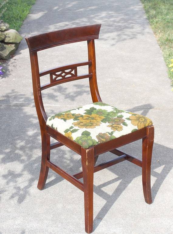 Antique Tell City Chair Mahogany Wood Tell By Queenieseclectic