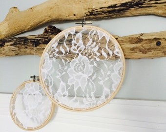 Hanging Doily Hoops
