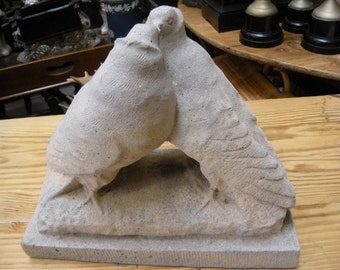 French Stone Casting of Love Birds(Doves)