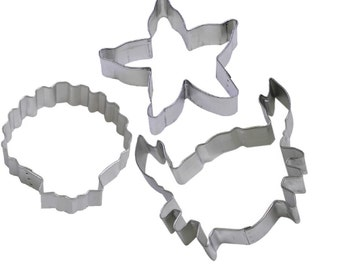 3 Piece Crab Seashell Starfish Cookie Cutter Set